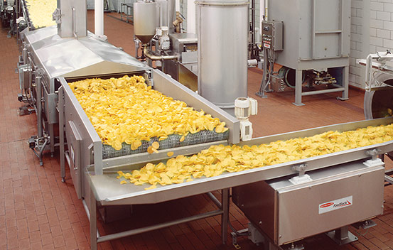 Integrated solutions for tortilla chips line