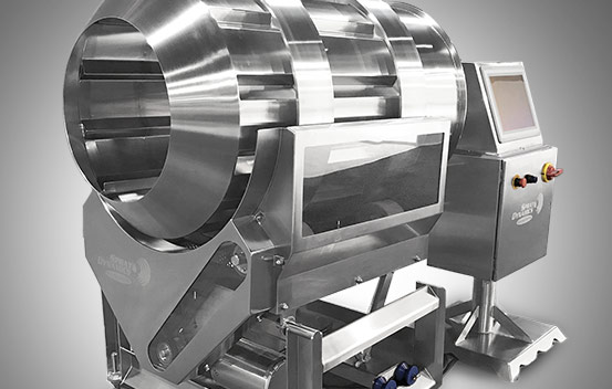 Seasoning and coating equipment for food industry