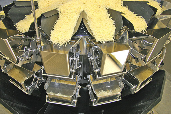 Multihead weighing for Cheese
