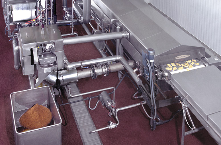 Breaded Products Fryer with Fryer Support Module and oil filtration
