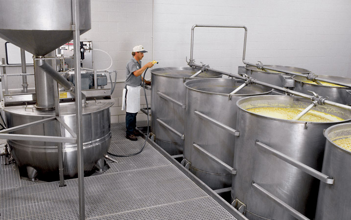 Installation of corn cooking and processing line equipment