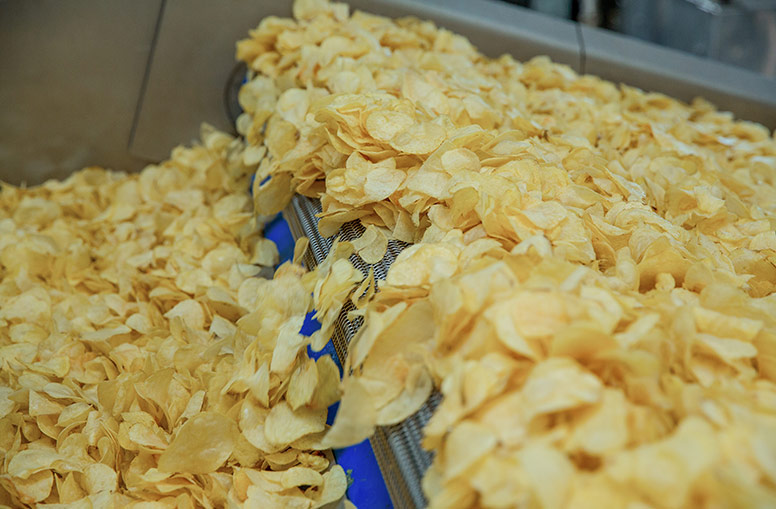 Production of high quality potato chips
