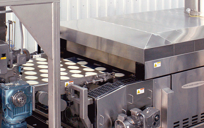 Tortilla Toaster Oven for corn products processing lines