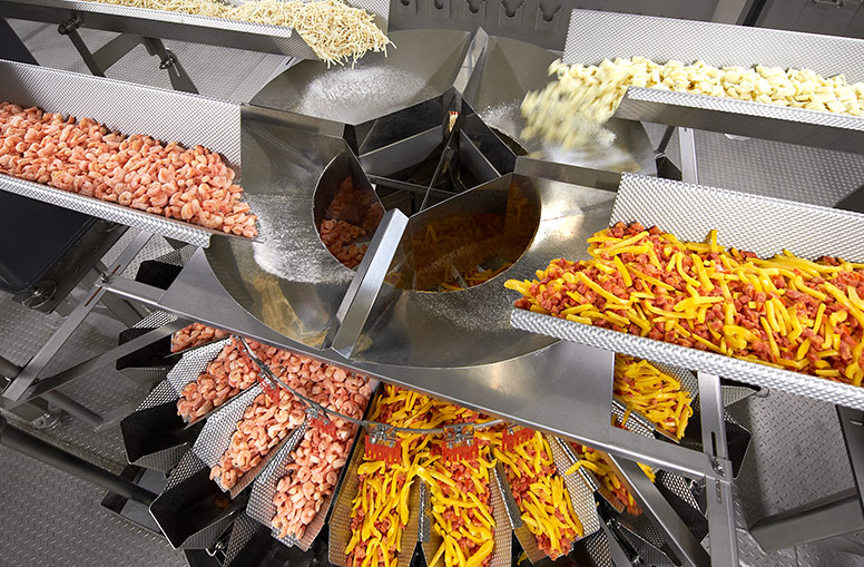 Ishida multihead weigher for blending and weighing mixed ingredients