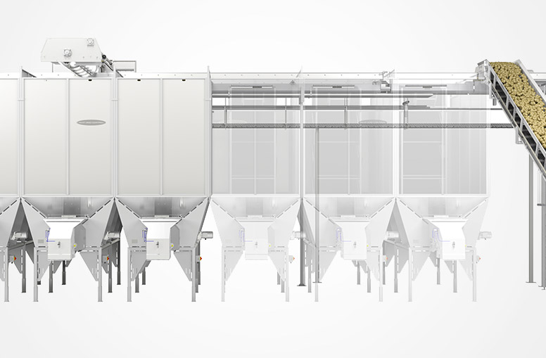 Modular construction of Gentle-Flo Storage and Handling System