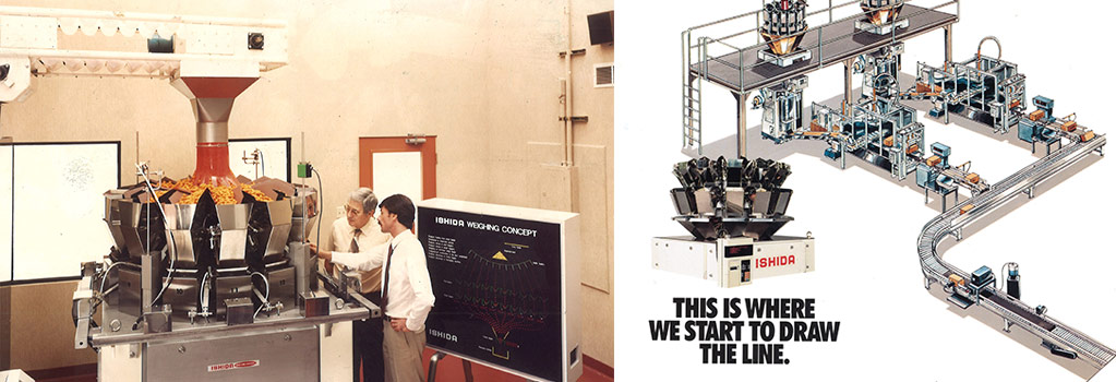 1980 introduction of computer combination weigher to North America