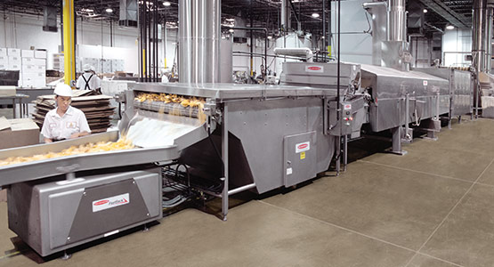 Ambient Air Cooler in tortilla chip frying line