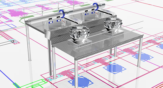 FastBack's modular support structure for food processing and packaging lines