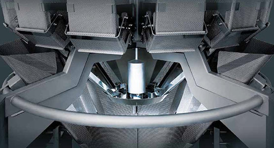 Open frame multihead weighers for washdown environments