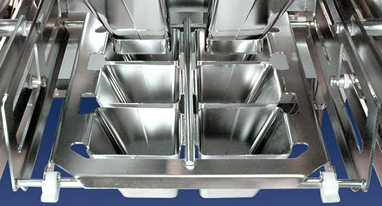 Filling equipment for food processing and packaging lines