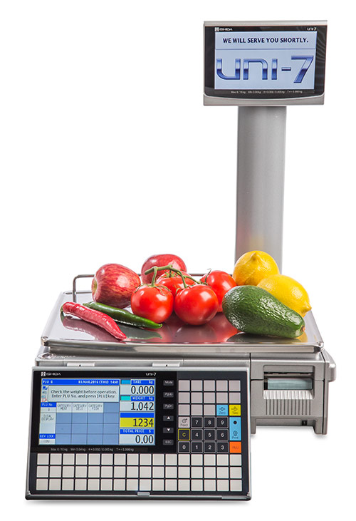 UNI-7 label and receipt printing scale