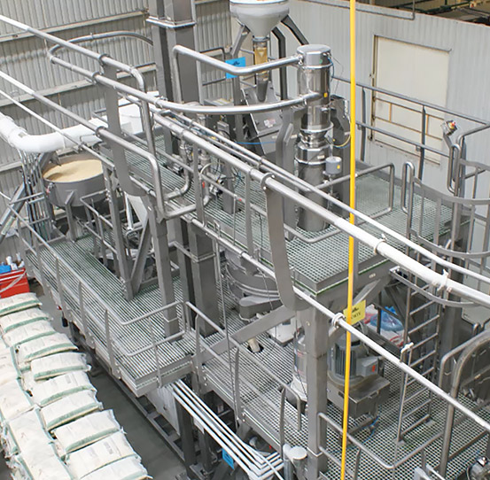 Corn processing plant with Heat and Control's Masa Maker