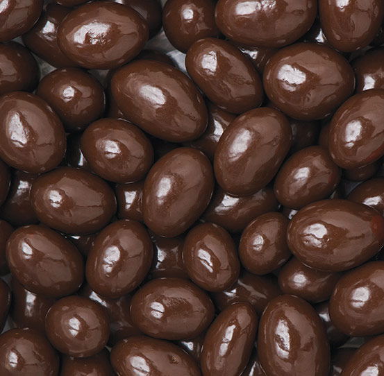 Chocolate covered nuts candy