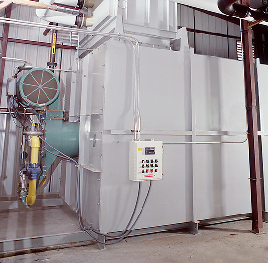 Horizontal Heat Exchanger with Booster Heater System
