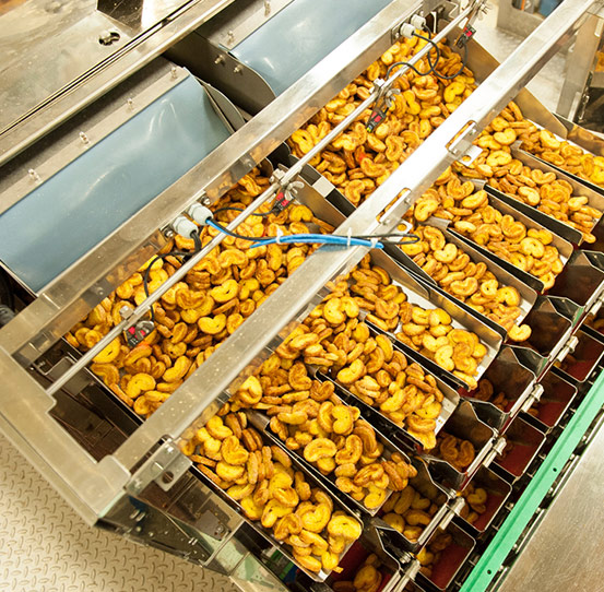 Ishida CCW Linear Weigher weighing cookies and biscuits