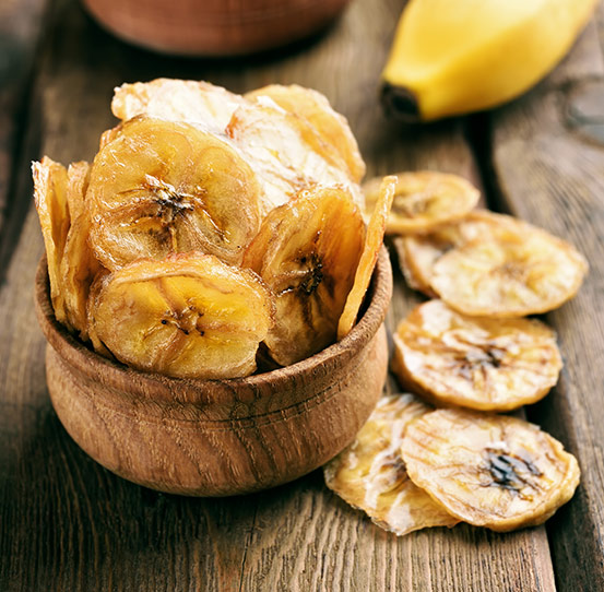 Plantain and banana chips production