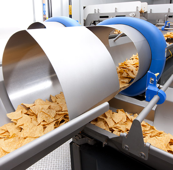 Conveying and proportioning tortilla chips