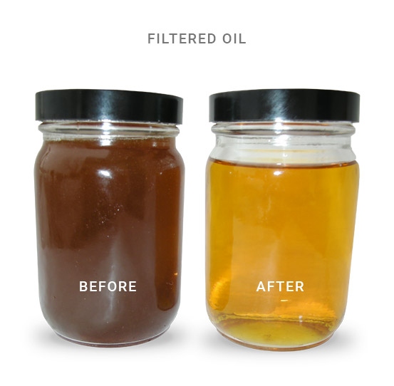 Filtered Frying Oil: Before and After
