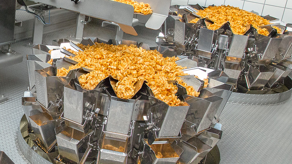 Ishida Multihead Weighers with Pellet Snacks