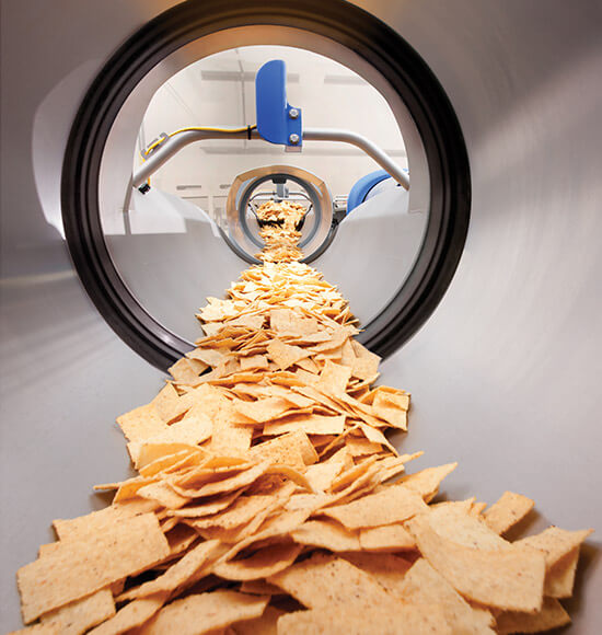 Conveying of Corn Tortilla Chips