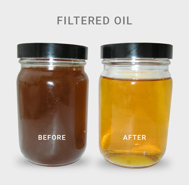 Filtered Oil: Before & After