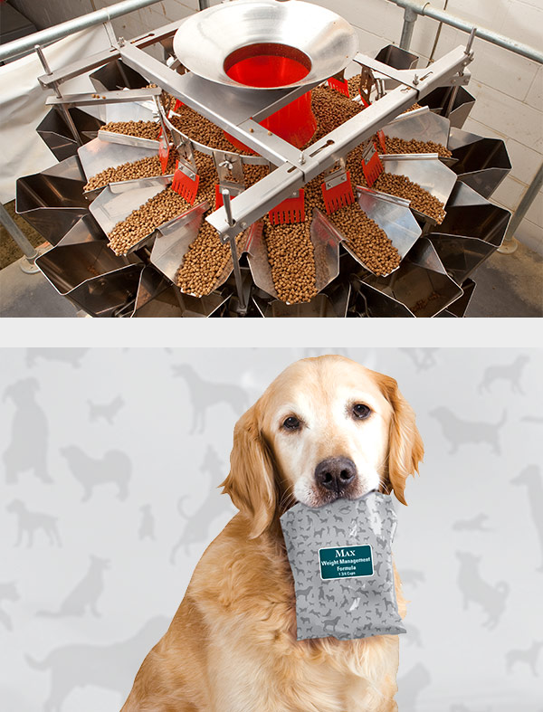 SmartPak dog with dog food packaging