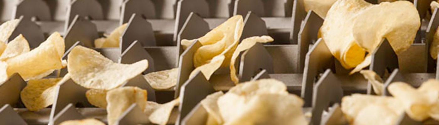 Chip sizing machinery for potato chip industry