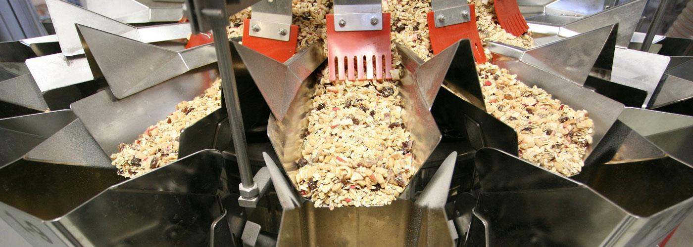 Ishida weigher for granola and cereals