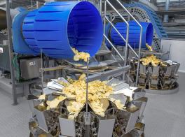 Food processing and packaging of potato chips