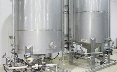 Store fryer oil for fruit snack processing lines