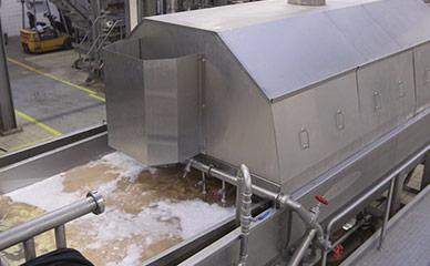Equipment for blanching potato slices