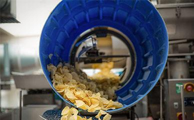 Seasoning equipment for potato chip production lines