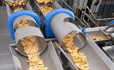 Conveyor and proportion systems for tortilla chips