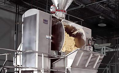 Masa flour mixing machinery for tortilla chip production