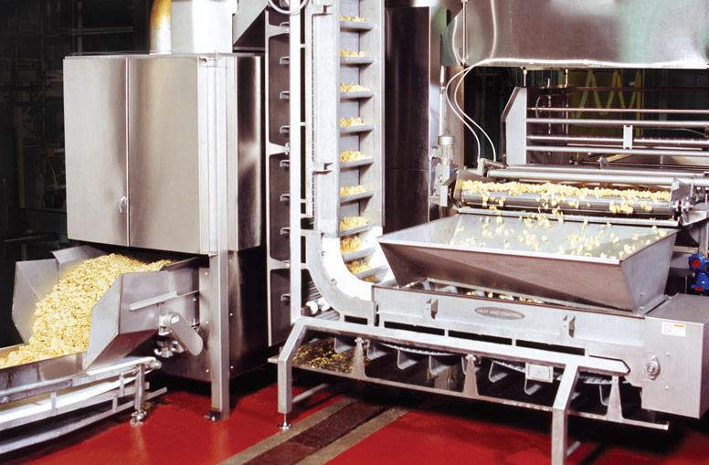 Potato chip frying and oil removal system