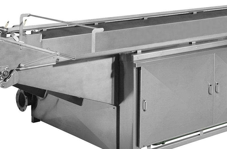 Kettle chip fryer with stainless steel construction