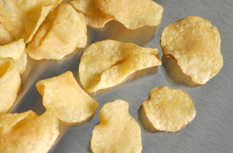 Kettle potato chips produced by the Universal Product Cooker