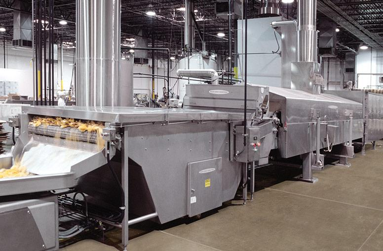 Tortilla chips frying line