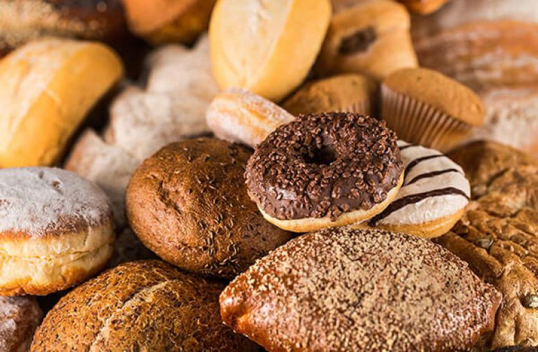 Food processing and packaging machinery for bakery foods